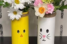 Chick + Bunny Vase